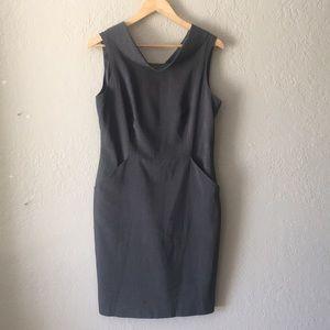 Calvin Klein boatneck lined dress